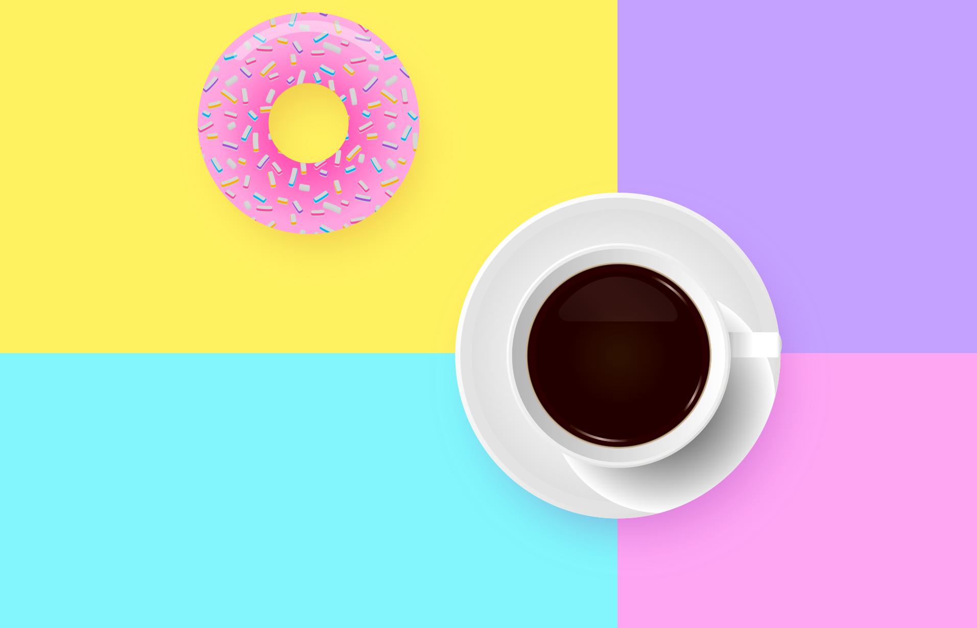 sfondo con caffe - Donut Studio - Agenzia Marketing Rovigo